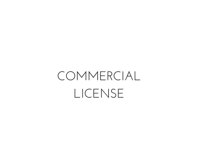 Commercial License for Templates or for For-Profit Use