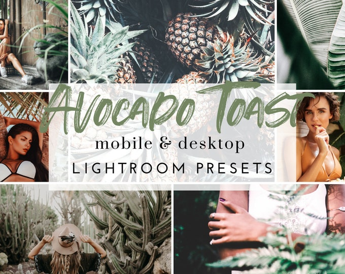 10 Mobile & Desktop Lightroom Presets AVOCADO TOAST Presets for Instagram, Boho Lifestyle Lightroom Preset for Bloggers, .dng .xmp