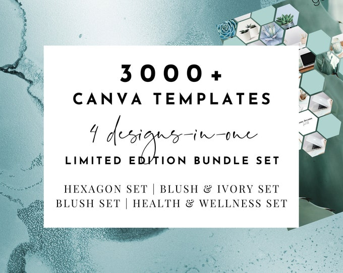 3000+ Canva Template Workbook Lead Magnet Limited Edition Mega Bundle