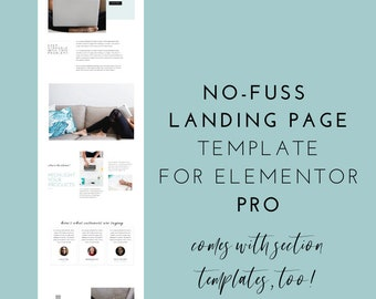 Turquoise Elementor Landing Page Template for Elementor Pro - Happy Blogger - Email List Signup, Call to Action, Lead Magnet