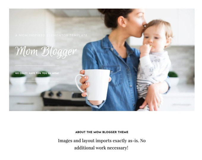 Elementor Template - Mom Blogger