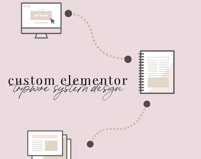 Custom Elementor Tripwire System Design