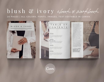 Blush and Ivory Canva Templates   Workbook Template   eBook Template   Lead Magnet   Opt-in Freebie   eBook Canva Template