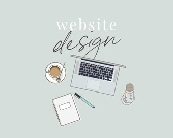 Website Design for Entrepreneurs - Custom Site Design - Feminine Website Design - Pro Blogger Design