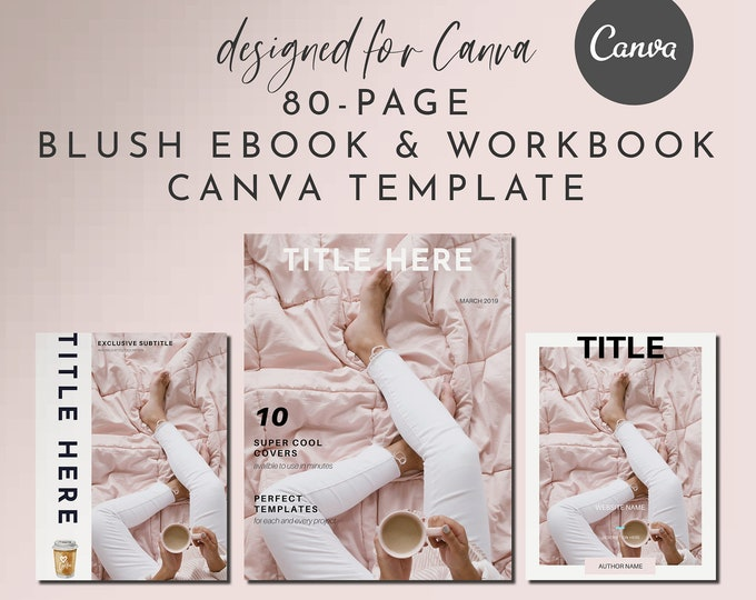 80-Page eBook & Workbook Canva Template for Bloggers, Writers and Coaches - Checklists, Resource Guide, Workbook, Call to Action