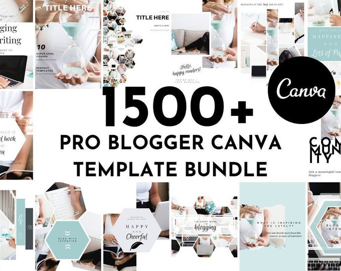 Pro Blogger Canva Template Set | eCourse, Lead Magnet, eBook, Workbook, Resource Guide, 30 Day Challenge, Planner | Canva Templates