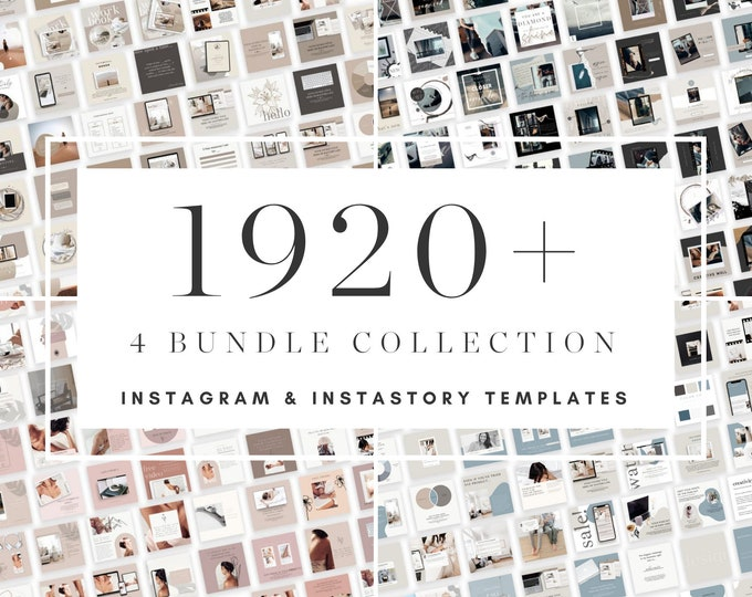 1920+ Instagram Post Bundle with Bonus Instagram Carousel - Canva Templates for Course, eBook Promotion, Engagement, Education