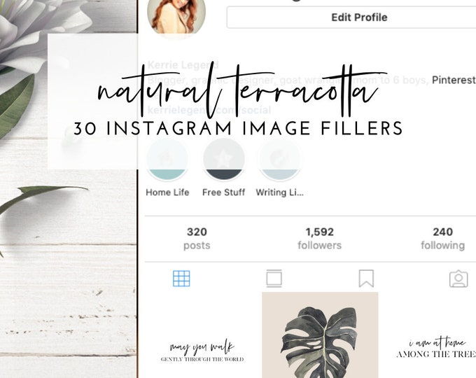 Instagram Post Image Fillers - NAUTRAL TERRACOTTA