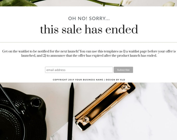 Lady Boss Elementor Waitlist Template - Waitlist Email Sign Up Template | Landing Page for Elementor | Waitlist Page for WordPress Websites