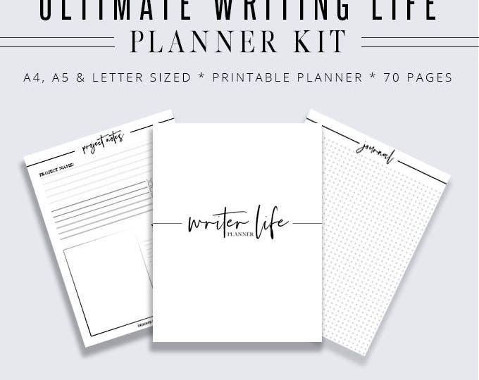 Ultimate Writing Life Binder, Writer Planner, Blog Planner, Writing Binder, Author Kit, Printable Planner, Planner Inserts, Digital Planner