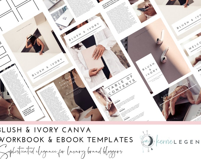 Blush and Ivory Canva Templates | Workbook Template | eBook Template | Lead Magnet | Opt-in Freebie | eBook Canva Template