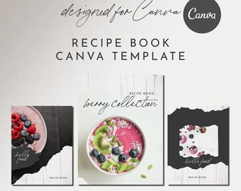 Recipe Book Canva Template Set - FARMHOUSE - 12+ Pages, Recipe Template, Cookbook Template, Magazine Template