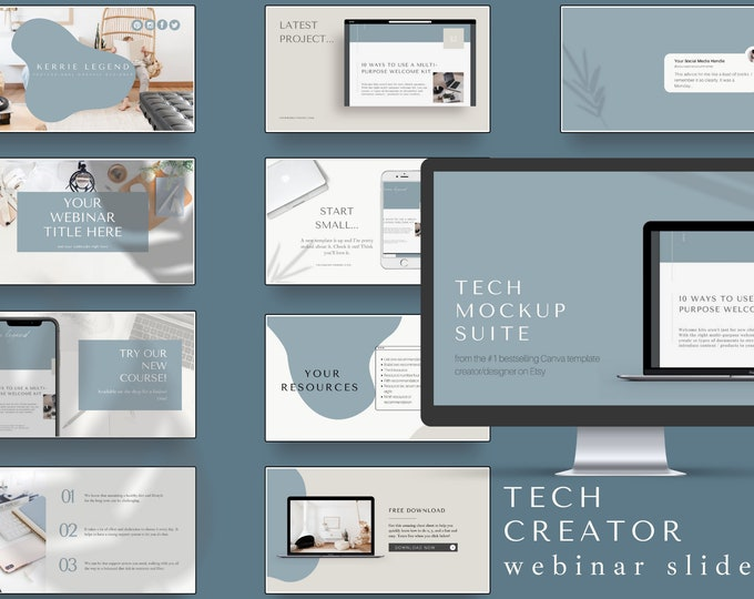 Course Webinar Slide Deck for Coaches - Tech Creator - Canva Template