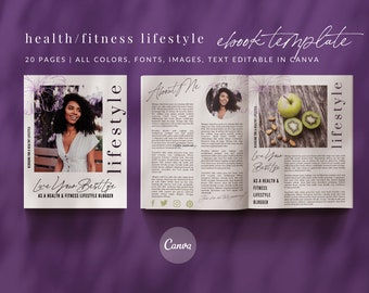 Health & Fitness Canva eBook Template