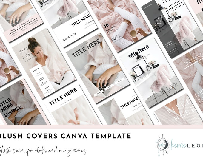 30 Blush Covers Canva Templates | Lead Magnet | Opt-In Freebie | Landing Page | Blogger Template | Blush Template
