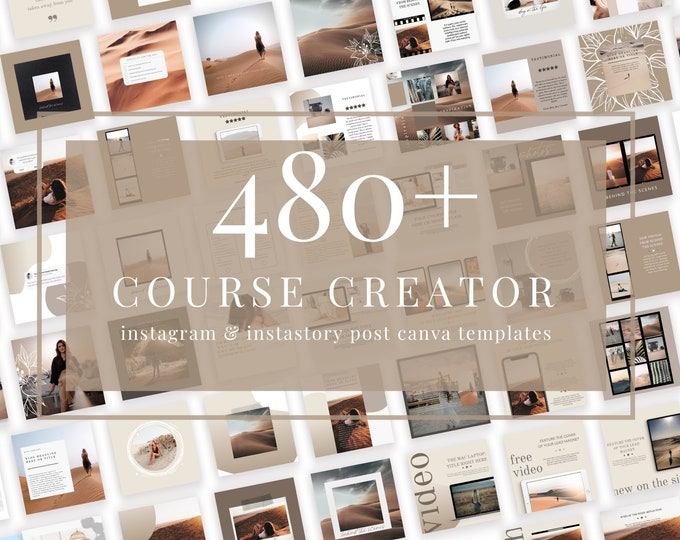 480+ Instagram & InstaStory Templates for Canva - Course Creator - Canva Templates for Course, eBook Promotion, Engagement, Education