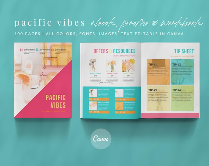 100+ Canva Template Entrepreneur Set - Canva eBook, Worksheets, Magazine, Product Catalog, Wishlist, Offers, Testimonials, Social Media