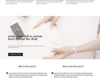 Lady Boss Elementor Template - Sales Page | Landing Page for Elementor | Sales Page for WordPress Websites