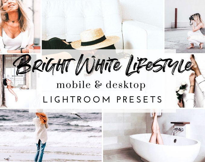 11 Mobile & Desktop Lightroom Presets BRIGHT WHITE LIFESTYLE Presets for Instagram, White Lifestyle Lightroom Preset for Bloggers, .dng .xmp