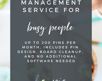 Pinterest Marketing Management and Pin Design | Pinterest for Bloggers | Pinterest for Busy People