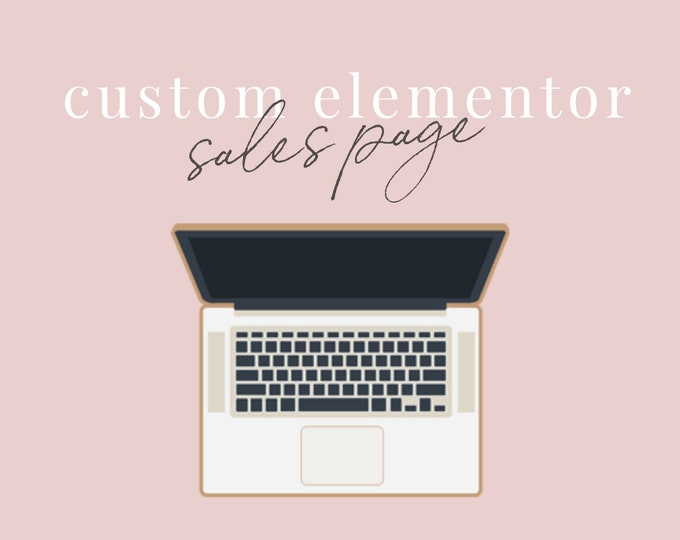 Custom Elementor Sales Page