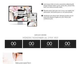 Lady Boss Elementor Webinar Signup Template - Webinar Signup Template | Landing Page for Elementor | Webinar Page for WordPress Websites