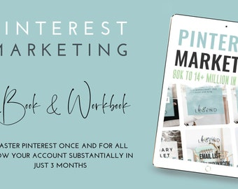Pinterest Marketing eBook and Workbook - 80k to 14+ Million in 3 Months