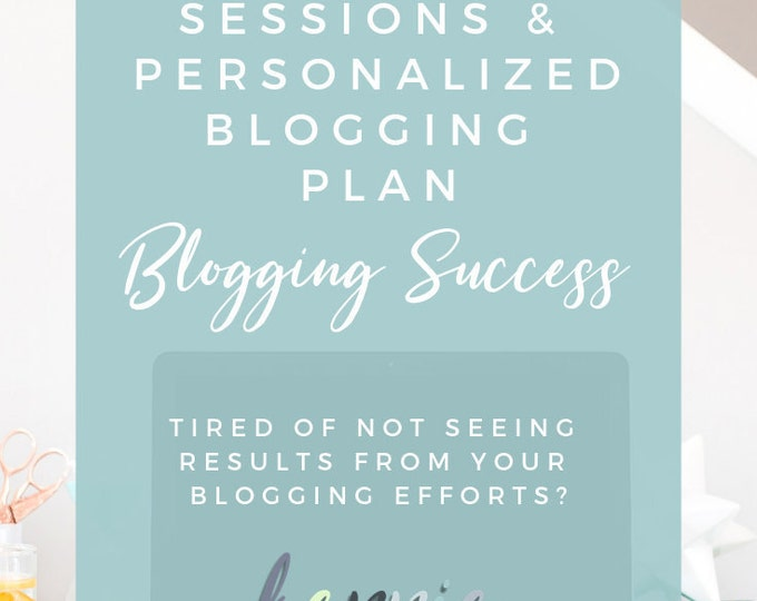 Coaching Sessions & Personalized Blogging Plan