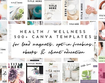 Lead Magnet & Content Upgrade Bundle for Canva - Health/Wellness Set - Designed for Health Practitioners - Bonuses Included