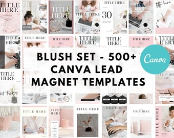 Lead Magnet & Content Upgrade Bundle for Canva - Blush Set - Designed for Writers and Bloggers - Bonuses Included
