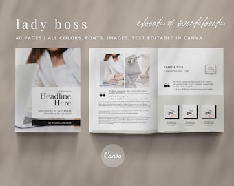 Lady Boss Canva eBook Workbook Course Creator Canva Template