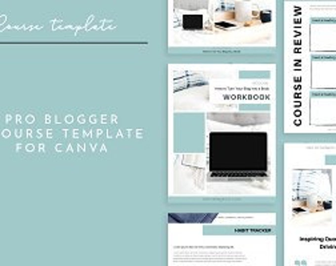 5 Canva Templates | Blog Business Templates | Planner | eCourse | eBook | Media Kit | 30 Day Challenge Template