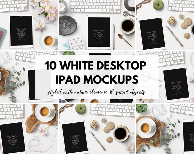 iPad Mockups - Bookstagram - Styled Desktop Images for Photoshop & Canva