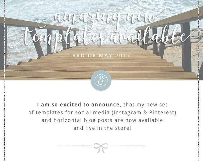 Silver Lining Social Media Horizontal Blog Templates