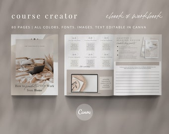 Course Creator eBook Workbook Checklist Challenge Canva Template - Neutral Minimalist - Neutral Minimalist Collection