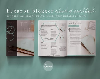 40-Page eBook & Workbook Canva Template for Bloggers, Writers and Coaches - Checklists, Resource Guide, Workbook, Call to Action