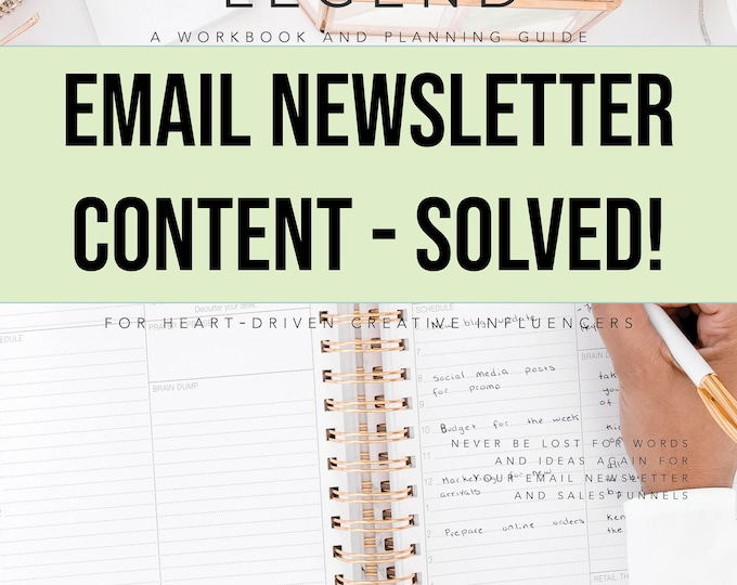 Email Newsletter Content - Solved: A Workbook and Planning Guide