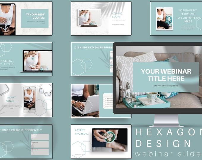 Course Webinar Slide Deck for Coaches - Hexagon Design - Canva Template
