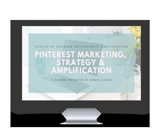 Pinterest Marketing, Strategy & Amplification Course Bundle + Bonuses - 1500+ Canva Templates