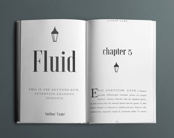 Fluid Book Interior Design Template - 35+ Pages - 5 Chapter Design Options - Fonts Included