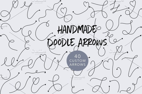 Hand-Drawn Doodle Arrows Pack 1