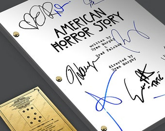 94a5c14a08 AMERICAN HORROR STORY Tv Script Screenplay Signed Autograph Reprint - Evan  Peters