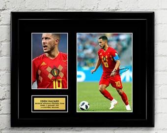 3090fccf8 Eden Hazard - Belgium National Football Team - Fifa World Cup 2018 - Signed  Poster Art Print Artwork