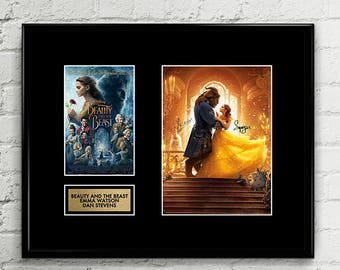 Beauty and the Beast Autograph Signed Poster Art Print Artwork - Disney Princess Movie - Emma Watson Dan Stevens