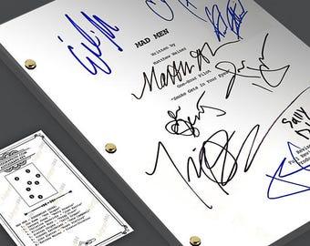 Mad Men TV Pilot Episode TV Script Screenplay - Signed Autograph Reprint - Jon Hamm, January Hones, Christina Hendricks, Elizabeth Moss