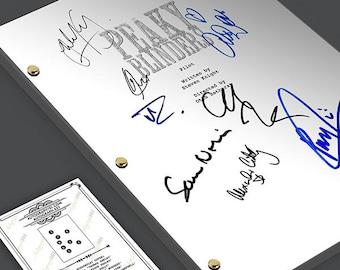 PEAKY BLINDERS Pilot Episode Tv Script Screenplay Signed Autograph Reprint - Cillian Murphy, Paul Anderson, Thomas Shelby, Arthur Shelby