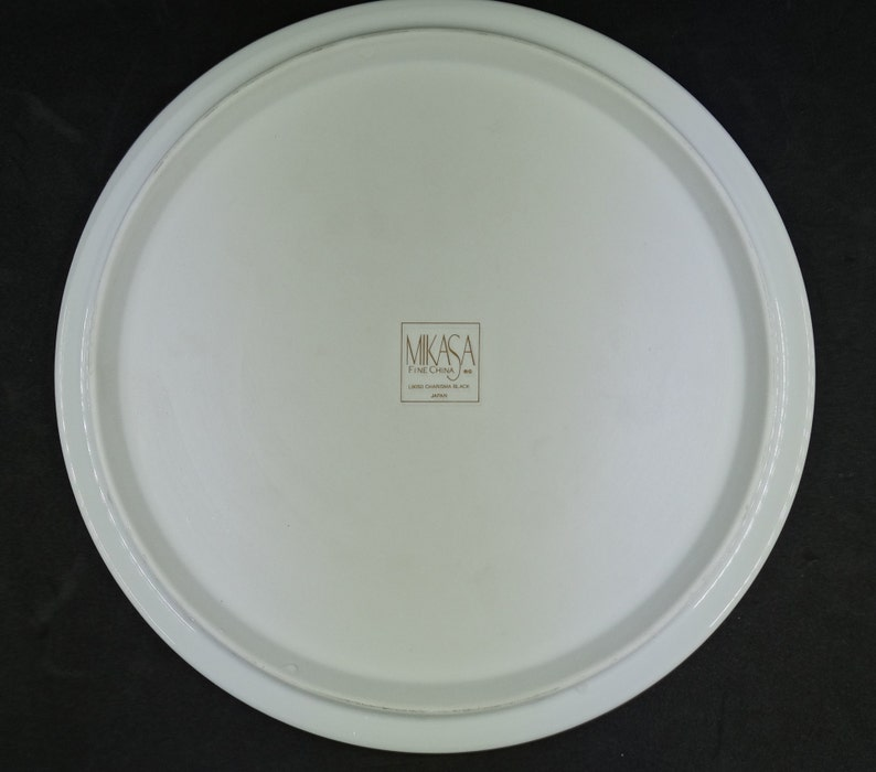 Vintage Mikasa Charisma Black PieTart Pan /& Solid Ceramic PieCake Server