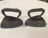 Vintage G NOV CO Salt and Pepper Shakers Tiny Irons