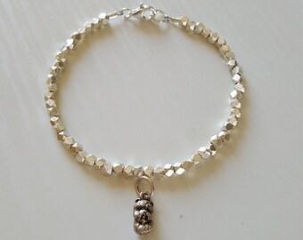 Westie Dog Charm Bracelet   Westie Jewelry   Hill Tribe Silver   925 Sterling   Minimalist   Dainty Delicate   Gift For Her