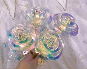 For order 10 or more ONLY!! Magic galaxy crystal roses decor flowers for romantic excited occasions shine as crystal mother's day